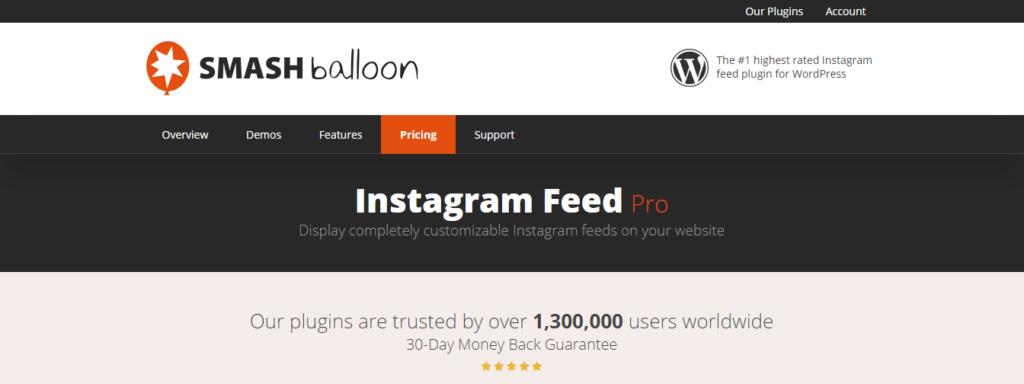 WordPress Instagram Plugin by Smash balloon