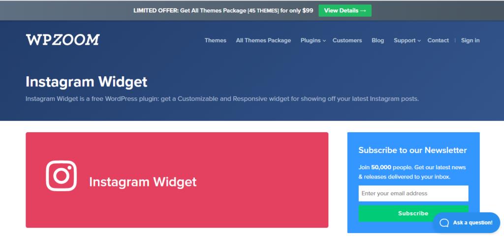 WordPress Instagram Plugin by WPZOOM