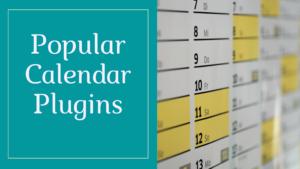 popular calendar plugins